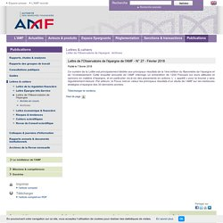 Lettre de l'Observatoire de l'épargne de l'AMF - N° 27 - Février 2018