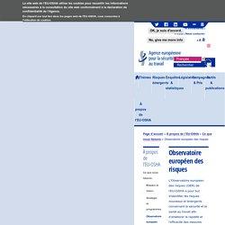 Observatoire européen des risques - Santé et sécurité au travail — EU-OSHA