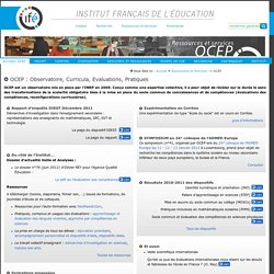 OCEP : Observatoire, Curricula, Evaluations, Pratiques