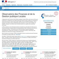 Observatoire des Finances et de la Gestion publique Locales