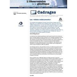L'Observatoire de la génétique - Cadrages