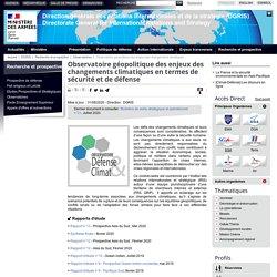 Observatoire géopolitique des enjeux des changements climatiques