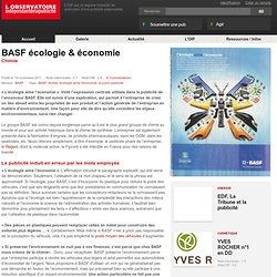 BASF L'écologie aime l'économie