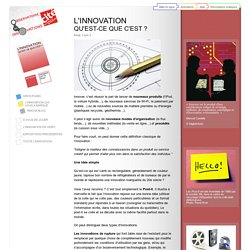 L'innovation, qu'est-ce que c'est ? p1 - Exposition « L'observatoire des innovations » à la Cité des sciences