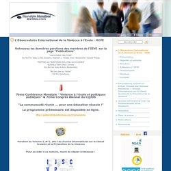 L'Observatoire International de la Violence à l'Ecole - OIVE