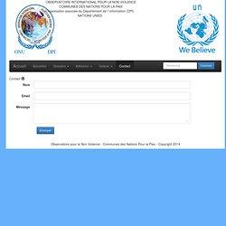 Observatoire International pour la Non Violence - Communes des Nations pour la Paix