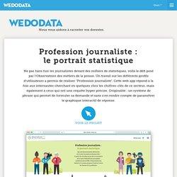 Wedodata - l'Observatoire des métiers de la presse : profession journaliste, le portrait statistique