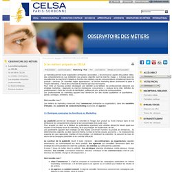Observatoire des métiers - Marketing/publicité