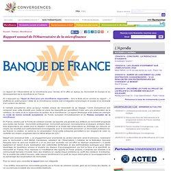 Rapport annuel de l'Observatoire de la microfinance