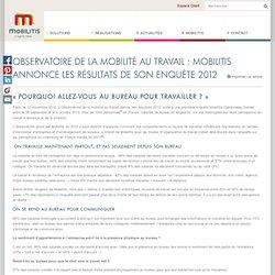 Observatoire de la mobilité au travail : Mobilitis annonce les résultats de son enquête 2012