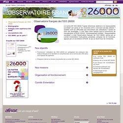Observatoire français de l'ISO 26000 / Normalisation / Métiers