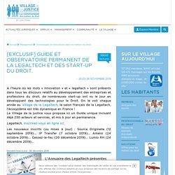 [Exclusif] Guide et observatoire permanent de la Legaltech et des start-up du droit.