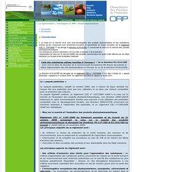 OBSERVATOIRE DES PESTICIDES - Réglementation produits phytosanitaires
