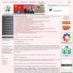 Observatoire européen du plurilinguisme - Accueil