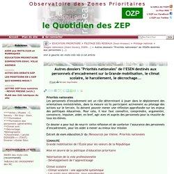 """Autres dossiers """"Priorités nationales"""" de l'ESEN destinés aux personnels(...)"""