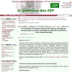 S'entraîner à l'épreuve orale des EAF (Epreuve anticipée de Français) grâce(...)
