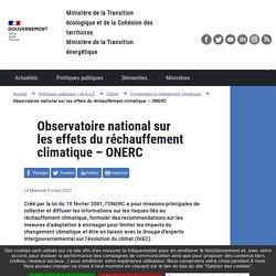 Observatoire national sur les effets du réchauffement climatique – ONERC