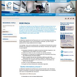 ORU PACA-ROR PACA-Observatoire Régional des Urgences PACA