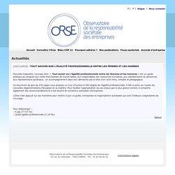 Actualités Orse - Observatoire sur la Responsabilité Sociétale des Entreprises.