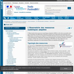 L'Observatoire des ressources numériques adaptées — Enseigner avec le numérique