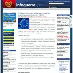 Création d'un observatoire des industries stratégiques européennes (OISE) | Infoguerre