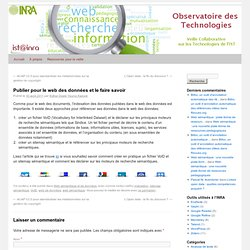 Publier pour le web des données et le faire savoir