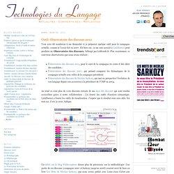 Outil: Observatoire des discours 2012