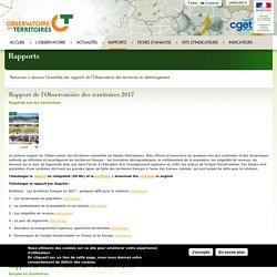 Rapport de l'Observatoire des territoires 2017