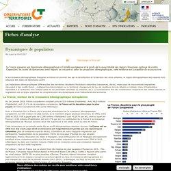 Dynamiques de population - L'Observatoire des Territoires