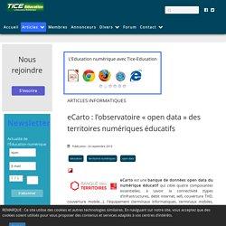eCarto : l'observatoire «open data» des territoires numériques éducatifs