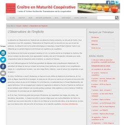 L'Observatoire de l'Implicite - Institut des Territoires Coopératifs Institut des Territoires Coopératifs