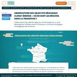 Observatoire des objectifs régionaux climat-énergie – Où en sont les régions dans la transition ?