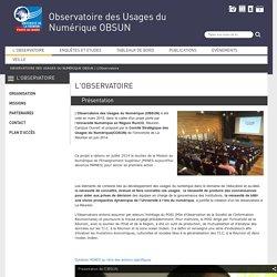 Observatoire des Usages du Numérique OBSUN - Université de La Réunion