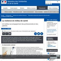 Observatoire national des violences en milieu de santé - ONVS