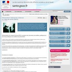 Observatoire national des violences en milieu de santé (ONVS)