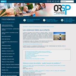 Observatoire Régional en Santé Publique de Franche-Comté - Les violences faites aux enfants