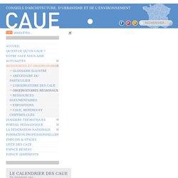 Observatoires régionaux - CAUE