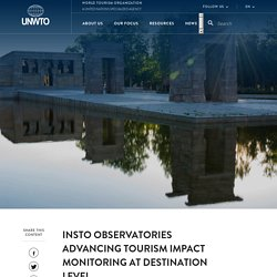 INSTO Observatories advancing tourism impact monitoring at destination level