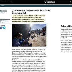 ¿Ya tenemos Observatorio Estatal de Convivencia? - Convivencia y educación en valores » Convivencia y educación en valores