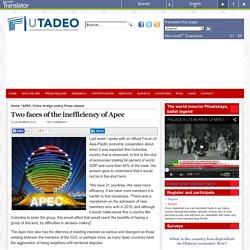 Observatorio Virtual del Asia Pacífico » Blog Archive » Dos caras de la ineficiencia de Apec