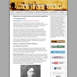 Mujeres en los observatorios astronómicos argentinos