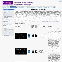 Pulsar Sounds (Jodrell Bank Observatory)