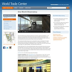 One World Observatory - Progress - World Trade Center - Port Authority of New York & New Jersey
