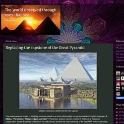 Replacing the capstone of the Great Pyramid