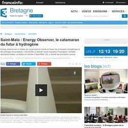Saint-Malo : Energy Observer, le catamaran du futur à hydrogène