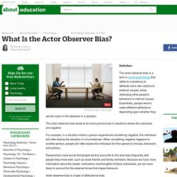 Actor-Observer Bias in Social Psychology