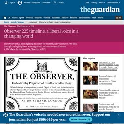 Observer 225 timeline: a liberal voice in a changing world