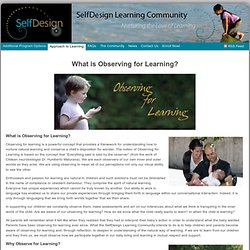 What is Observing for Learning? : K-9 Learning Community