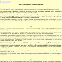 Sainte-Victoire, l'obsession sentimentale de Cézanne