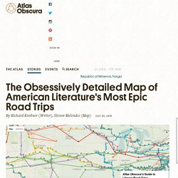 The Obsessively Detailed Map of American Literature's Most Epic Road Trips